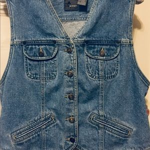 Liz Wear Women's Denim Vintage Vest Blue Jean PL